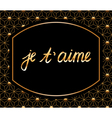 je taime vector image vector image