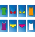 Kit of underwear and tops vector image
