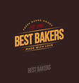 logo best bakers yellow vector image