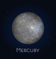 mercury icon first planet in solar system vector image vector image