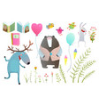 moose and bear books flowers items clip art vector image vector image