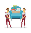 moving service - cartoon people characters vector image