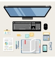 Office workplace flat vector image
