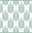 palm blue leaves seamless pattern vector image vector image