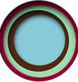 Paper round holes vector image vector image