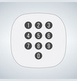 phone keypad app in touchscreen device isolated vector image vector image