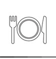 plate fork and knife icon design vector image