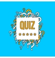 Quiz test background with question marks vector image vector image