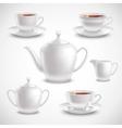 Realistic Tea Set vector image vector image