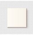 realistic white box icon vector image vector image
