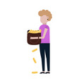 rich girl flat icon vector image