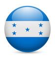 Round glossy icon of honduras vector image vector image