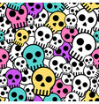 seamless wrapping paper with colkor skulls vector image vector image