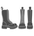 set black and white with boots vector image