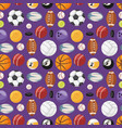 set of balls isolated seamless pattern vector image vector image
