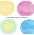 set of bright circular spot watercolor vector image vector image