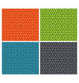 set of seamless patterns with hexagons - vector image vector image