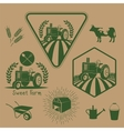set retro farm labels vector image