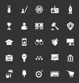 SME icons on gray background vector image vector image