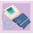 Sphygmomanometer measures blood pressure readings vector image