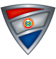 steel shield with flag paraguay vector image vector image