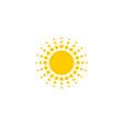 sun symbol design vector image vector image