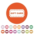The gift card icon Coupon and discount offer vector image