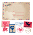 Vintage love card vector | Price: 3 Credits (USD $3)