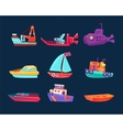 Water Transport Toy Icon Set vector image vector image