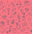 womens day or valentines day seamless pattern vector image vector image