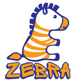 Zebra print for little baby vector image vector image