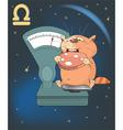 Zodiac Signs Libra Cartoon Charact vector image