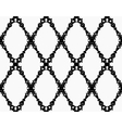 Black Garland Brush Strokes Pattern vector image