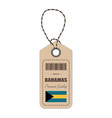 hang tag made in bahamas with flag icon isolated vector image