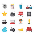 icon set of tv show and cinema symbols vector image