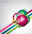stylish party design vector image