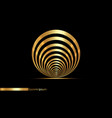 abstract golden lines in circle form logo design vector image