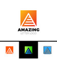 abstract letter a logo design template arrow vector image vector image