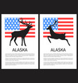 alaska deer and text sample on vector image vector image