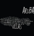aruba villas text background word cloud concept vector image vector image