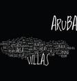 aruba villas text background word cloud concept
