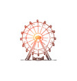 attraction ferris wheel amusement vector image