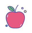 back to school education apple design vector image