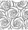 beautiful black and white seamless pattern in vector image vector image