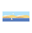 beautiful summer landscape seascape beach and vector image