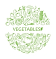 black icon vegetables set vector image