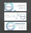 blue circle corporate business banner template vector image vector image