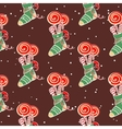 Christmas Pattern Lollipops vector image vector image