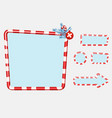 christmas user interface and elements for game vector image vector image