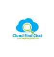Cloud Find Chat Logo vector image vector image